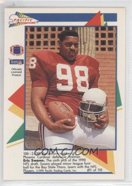 1991 Pacific Flash Cards - [Base] #11 - Eric Swann