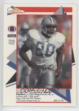 1991 Pacific Flash Cards - [Base] #50 - Barry Sanders