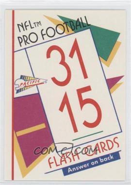 1991 Pacific Flash Cards - [Base] #66 - Joe Montana