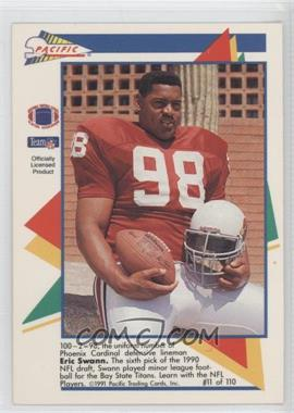 1991 Pacific Flash Cards #11 - Eric Swann