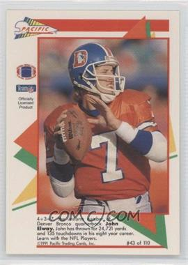 1991 Pacific Flash Cards #43 - John Elway