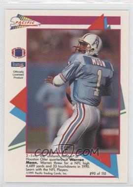 1991 Pacific Flash Cards #90 - Warren Moon