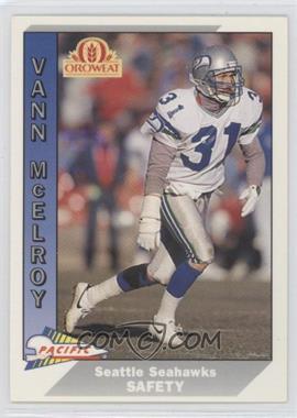 1991 Pacific Oroweat Seattle Seahawks - [Base] #21 - Vann McElroy
