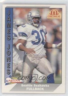 1991 Pacific Oroweat Seattle Seahawks - [Base] #31 - James R. Jones