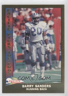 1991 Pacific Pacific Picks The Pros Gold #11 - Barry Sanders
