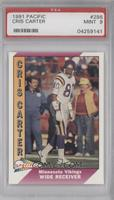 Cris Carter (Corrected: Name Spelled Correctly) [PSA 9]