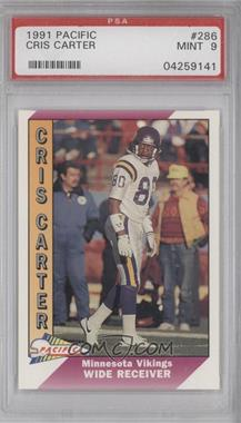 1991 Pacific #286.2 - Cris Carter (Corrected: Name Spelled Correctly) [PSA 9]