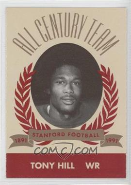 1991 Pepsi/Togo's Stanford Cardinal All Century Team - [Base] #N/A - Tony L. Hill