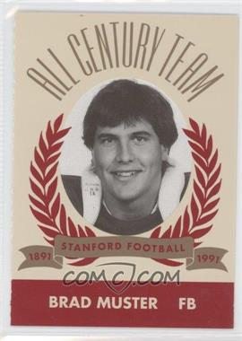 1991 Pepsi/Togo's Stanford Cardinal All Century Team #N/A - Brad Muster