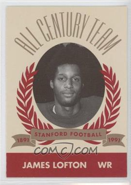 1991 Pepsi/Togo's Stanford Cardinal All Century Team #N/A - James Lofton
