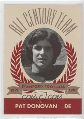 1991 Pepsi/Togo's Stanford Cardinal All Century Team #N/A - Pat Donovan