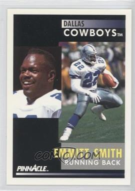 "1991 Pinnacle #42.1 - Emmitt Smith (""Despite missing training camp"" on back)"