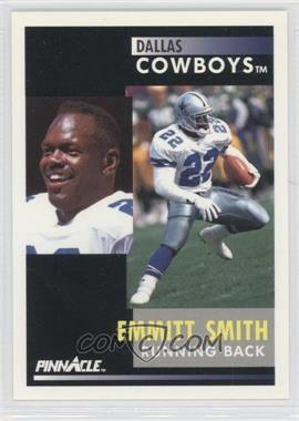 "1991 Pinnacle #42.1 - Emmitt Smith (""Despite missing training camp"" on back)"