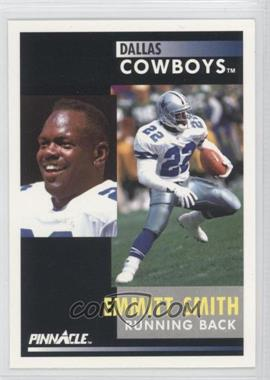 """1991 Pinnacle #42.2 - Emmitt Smith (""""He held out"""" on back Promo)"""