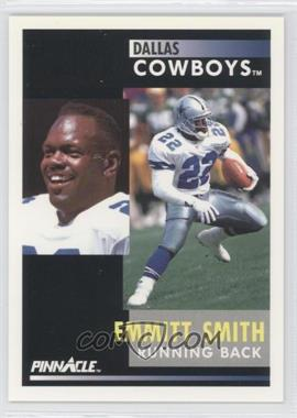 "1991 Pinnacle #42.2 - Emmitt Smith (""He held out"" on back Promo)"