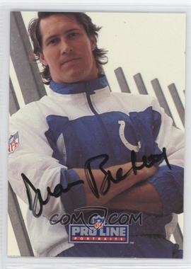 1991 Pro Line Portraits Autographs #DUBI - Duane Bickett