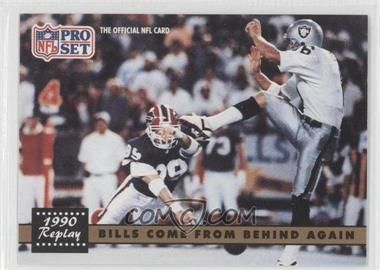 1991 Pro Set - [Base] #328.2 - Bills Come From Behind Again (Steve Tasker, Jeff Gossett) (Corrected: NFLPA Logo on back)