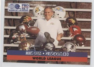 1991 Pro Set - WLAF Inserts #1 - Mike Lynn