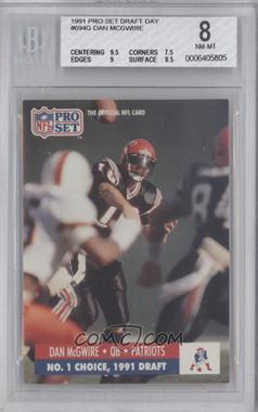 1991 Pro Set Draft Day #694 - Dave McCurry [BGS 8]