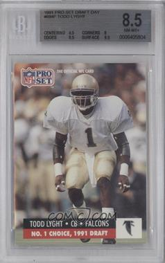 1991 Pro Set Draft Day #694 - Todd Lyght [BGS 8.5]