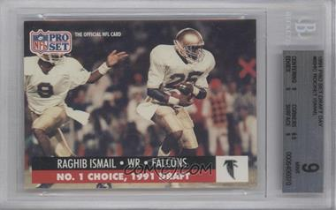 1991 Pro Set Draft Day #694.1 - Rocket Ismail (Atlanta) [BGS 9]