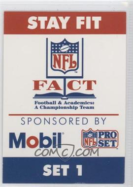 1991 Pro Set Mobil FACT - [Base] #SC - NFL Fact