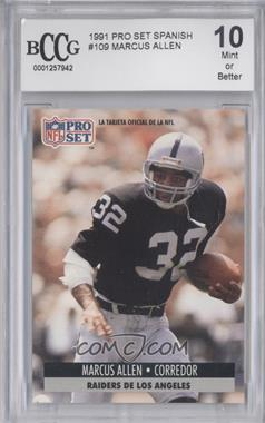 1991 Pro Set Spanish - [Base] #109 - Marcus Allen [ENCASED]