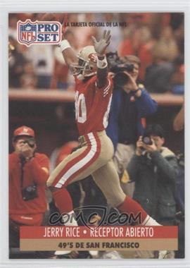 1991 Pro Set Spanish - [Base] #222 - Jerry Rice