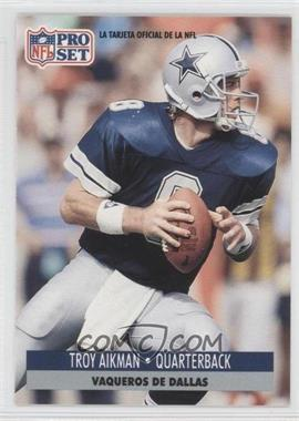 1991 Pro Set Spanish #46 - Troy Aikman