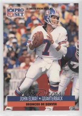 1991 Pro Set Spanish #57 - John Elway