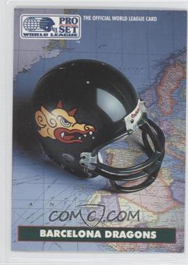 1991 Pro Set WLAF Helmets #1 - Barcelona Dragons (WLAF) Team