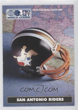 1991 Pro Set WLAF Helmets #10 - San Antonio Riders (WLAF) Team