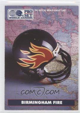 1991 Pro Set WLAF Helmets #2 - Birmingham Fire (WLAF) Team