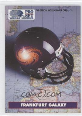 1991 Pro Set WLAF Helmets #3 - Frankfurt Galaxy (WLAF) Team