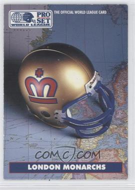 1991 Pro Set WLAF Helmets #4 - London Monarchs (WLAF) Team
