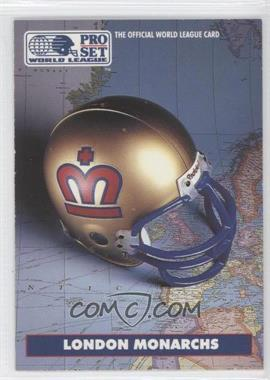 1991 Pro Set WLAF Helmets #4 - London Monarchs (WLAF) Team