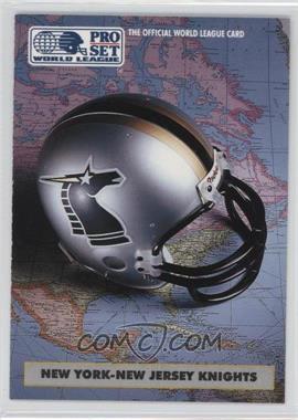 1991 Pro Set WLAF Helmets #6 - New York-New Jersey Knights (WLAF) Team