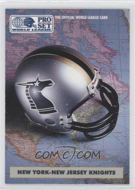 1991 Pro Set WLAF Helmets #6 - New York-New Jersey Knights (WLAF) Team