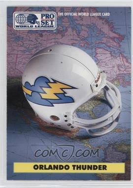 1991 Pro Set WLAF Helmets #7 - Orlando Thunder (WLAF) Team