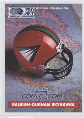 1991 Pro Set WLAF Helmets #8 - Raleigh-Durham Skyhawks (WLAF) Team