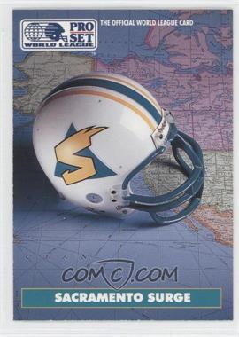 1991 Pro Set WLAF Helmets #9 - Sacramento Surge (WLAF) Team