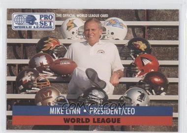 1991 Pro Set WLAF Inserts #1 - Mike Lynn