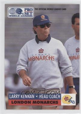 1991 Pro Set WLAF Inserts #12 - Larry Kelm