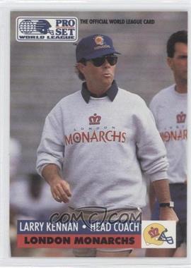 1991 Pro Set WLAF Inserts #12 - Larry Kennan