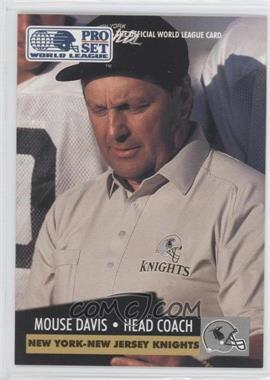 1991 Pro Set WLAF Inserts #18 - Mouse Davis