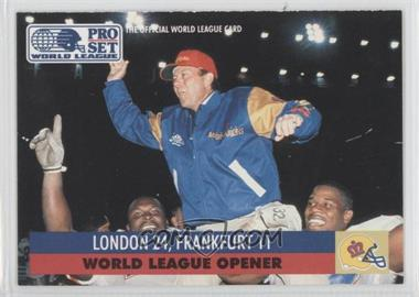 1991 Pro Set WLAF Inserts #2 - London 24, Frankfurt 11