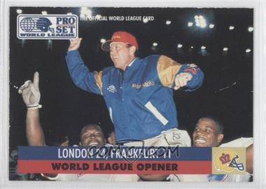 1991 Pro Set WLAF Inserts #2 - London 24, Frankfurt 11