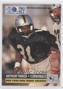 1991 Pro Set WLAF Inserts #20 - Anthony Parker
