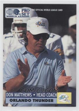 1991 Pro Set WLAF Inserts #21 - Don Matthews