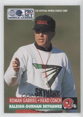 1991 Pro Set WLAF Inserts #24 - Rod Garcia